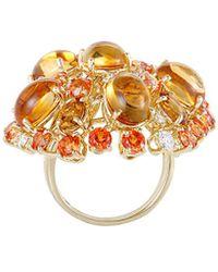 Roberto Coin 18k 0.55 Ct. Tw. Diamond & Gemstone Ring - Metallic
