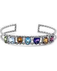 Samuel B. Silver Gemstone Bracelet - Metallic