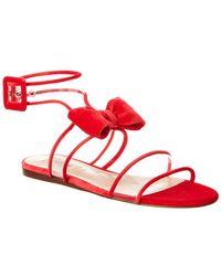 Valentino Garavani Dollybow Velvet Sandal - Pink