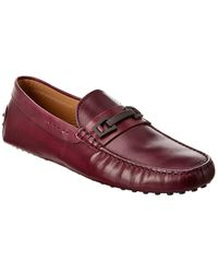 Tod's Gommino Leather Loafer - Purple