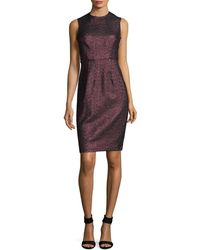 Tracy Reese Shimmering Sheath Dress - Purple
