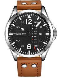 Stuhrling Original Men's Aviator Watch - Metallic