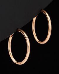 Argento Vivo - Rose Gold Over Silver Medium Tube Hoops - Lyst