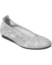 Arche Laius Leather Flat - Gray