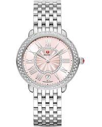 Michele Serein Diamond Watch - Metallic