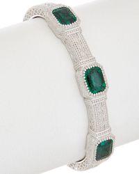 Judith Ripka Estate Silver Cuff - Multicolor