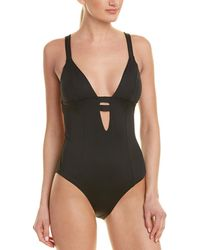 Vitamin A Neutra Maillot (eco White) Women's Swimsuits One Piece - Black
