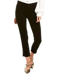 J Brand Ruby Black High-rise Cigarette Leg Jean