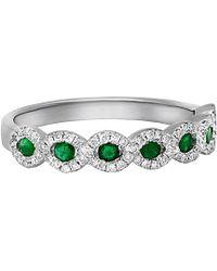 Diana M. Jewels - . Fine Jewelry 14k 0.48 Ct. Tw. Diamond & Emerald Ring - Lyst
