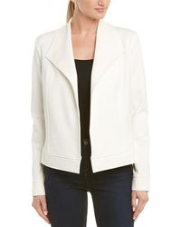 Three Dots Moto Jacket - White