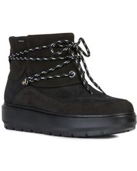 Geox Kaula Leather Ankle Boot - Black