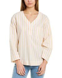 Club Monaco Easy Popover Linen-blend Shirt - Yellow