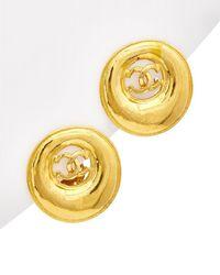 Chanel Gold-tone Cc Earrings - Metallic