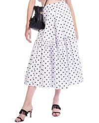 STAUD Orchid Skirt - White