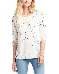 NIC+ZOE Paint The Town Cashmere-blend Sweater - White