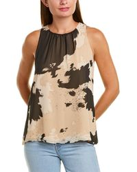 Vince Camuto Abstract Cowhide Tank - White