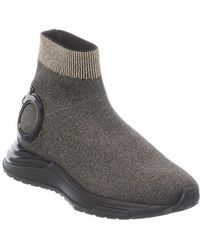 Ferragamo Gancini Sock Sneaker - Metallic