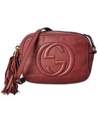 Gucci Burgundy Leather Disco - Multicolour