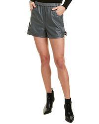 Karina Grimaldi Claudia Leather Short - Gray