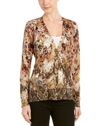 Magaschoni Silk & Cashmere-blend Cardigan - Brown