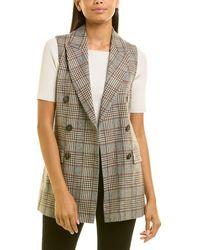 Peserico Wool-blend Waistcoat - Brown