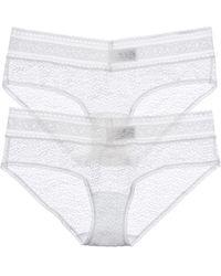 Calvin Klein Underwear 2pk Bare Lace Hipster - White