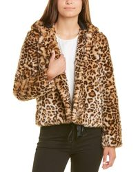 Sandro Outers Faux Fur Jacket - Brown