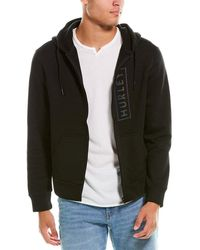 Hurley Boxed Logo Fleece Zip-up Hoodie - Black