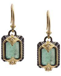 Armenta - Old World 18k & Silver 6.54 Ct. Tw. Diamond & Gemstone Triplet Earrings - Lyst