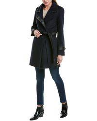 Badgley Mischka Millie Wool-blend Coat - Blue