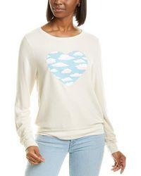 Wildfox Baggy Beach Jumper Light Hearted Sweatshirt - White