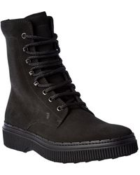Tod's Suede Boot - Black