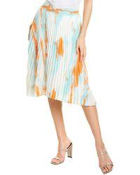 Lucy Paris Tyler A-line Skirt - Blue
