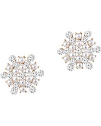 Gottex - 14k Plated Crystal Studs - Lyst