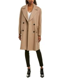 French Connection Platform Wool-blend Coat - Brown