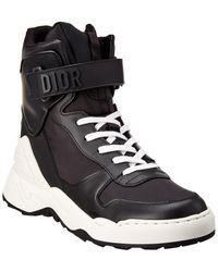 Dior Jumper Leather High-top Trainer - Black