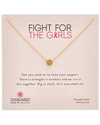 Dogeared 14k Over Silver Crystal Necklace - Metallic