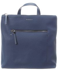 Fiorelli Finley Large Leather Backpack - Blue