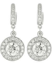 Diana M. Jewels . Fine Jewellery 18k 6.65 Ct. Tw. Diamond Earrings - Metallic