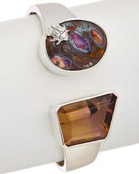Stephen Dweck One Of A Kind Silver Gemstone Bangle - Multicolour