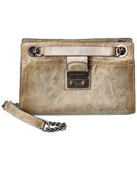 Frye Ella Double Handle Leather Crossbody - White