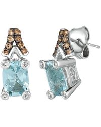 Le Vian ? Chocolatier? 14k Vanilla Gold? 1.68 Ct. Tw. Aquamarine Earrings - Blue