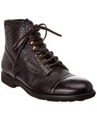 Dolce & Gabbana Lace-up Leather Boot - Brown