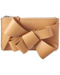Delpozo - Mini Bow Leather Clutch Bag - Lyst