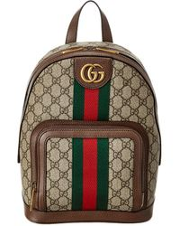 Gucci Ophidia Small GG Supreme Canvas & Leather Backpack - Multicolour