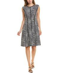 Sandra Darren Seamed A-line Dress - Black