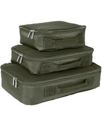 Genius Pack Set Of 3 Compression Packing Cubes - Green