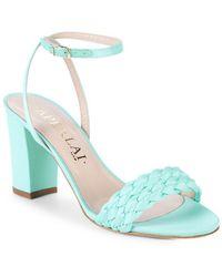 Aperlai Braided Heel Sandal - Blue