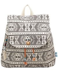 TOMS - Forest Patterned Canvas Poet Backpack - Lyst