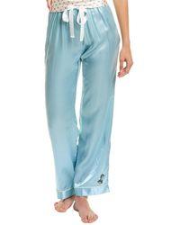 Morgan Lane Chantal Silk-blend Pant - Blue